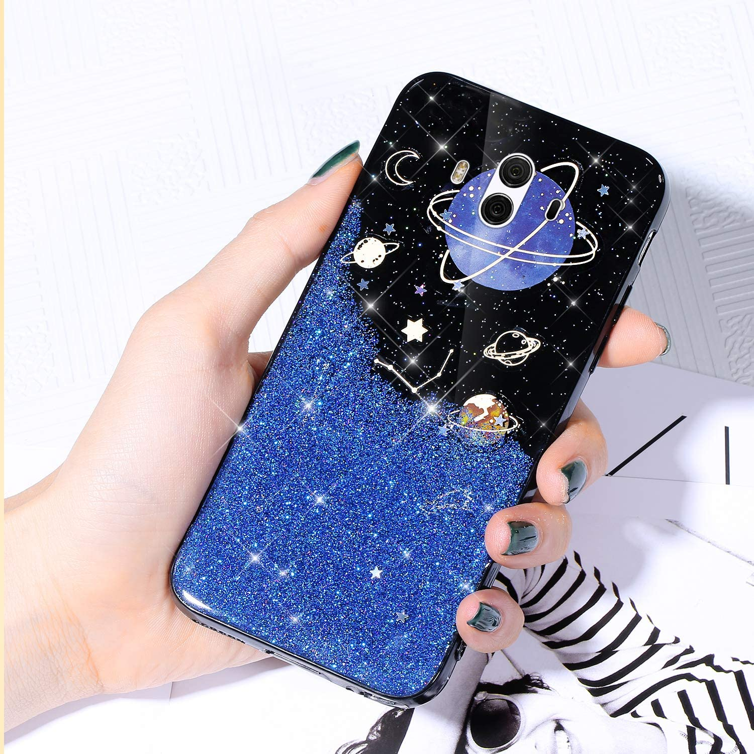 Case for Huawei Mate 10 Shiny Starry Cover Free shipping anywhere in Max 46% OFF the nation Sparkle Glitter
