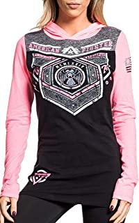 Brevard Long Sleeve Sport Graphic Fashion Hooded T-shirt Top By Affliction