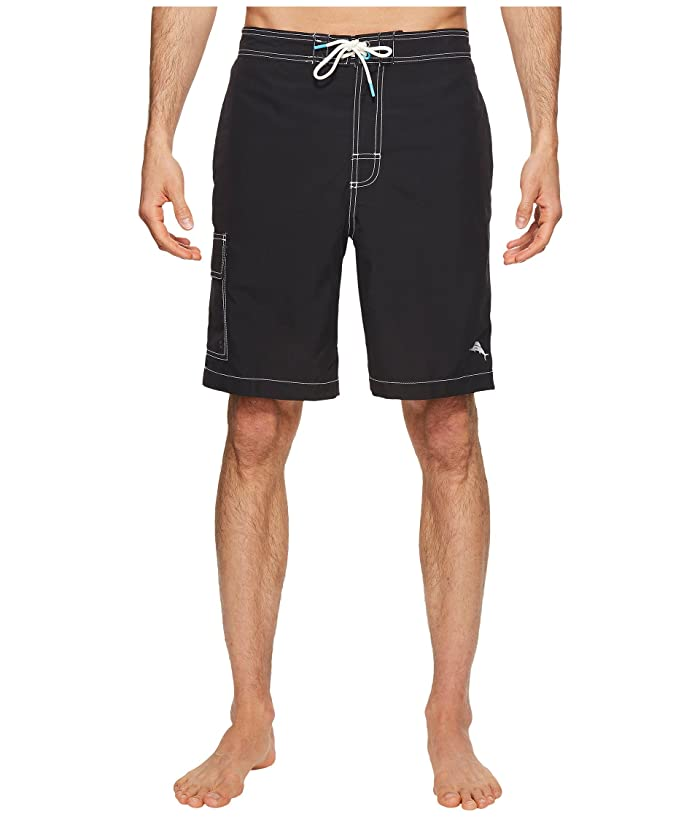 Tommy Bahama Baja Beach Swim Trunk (Black) Men