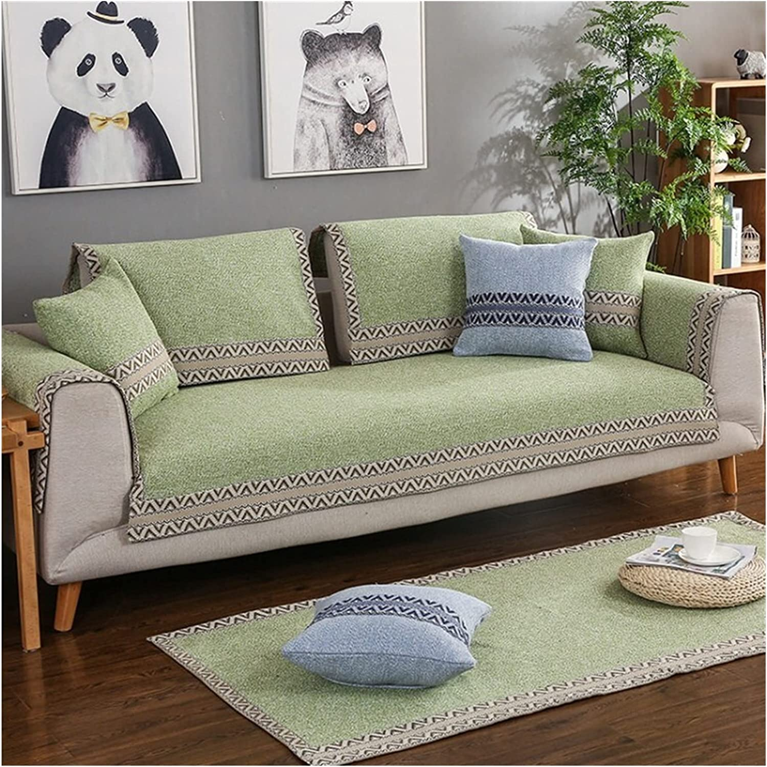 SEAL limited product XUELINGTANG 1 Piece Cotton Linen Sofa Modern Cover 67% OFF of fixed price Style Fabric
