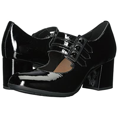 Earth Fortuna Earthies (Black Tumbled Patent) High Heels