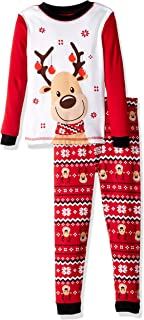 Image of Colorful Reindeer Christmas Pajamas for Toddler Boys