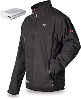 Venture Heat Men's Softshell Heated Jacket with Battery 12hr - The Outlast Windproof Jacket