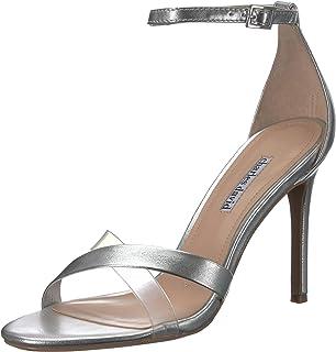 Charles David Women's Courtney Heeled Sandal, silver 7 M US