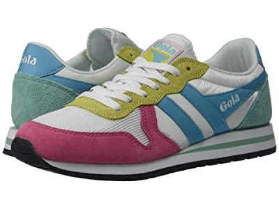 Gola Daytona (White/Fluor Pink/Aqua Blue/Sea Mist) Women