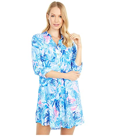 Lilly Pulitzer Natalie Cover-Up (Saltwater Blue Shade Seekers) Women