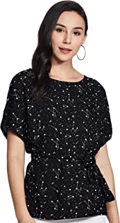 Amazon Brand - Symbol Women's Starred Loose fit Shirt