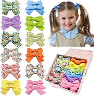 24 Pcs Baby Girl Hair Bows Clips Hair Barrettes Alligator Clip Hair Accessories for Little Girls Toddler Kids Teens in Gif...