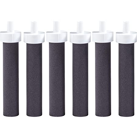 Brita Water Bottle Replacement Water Bottle Filters, Black, 6 Count