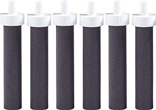 Brita Water Bottle Replacement Water Bottle Filters, Black, 6 Count