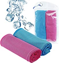 DAYOOH Sports Cooling Towel,Breathable Mesh Towel,Instant Ice Antibacterial Towel for Hot Sweaty Summer Days,Golf towel, Yoga Towels,Camping Towels,Fitness, Biking