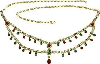 Memoir Gold Plated Brass, Super Traditional,Broad Waistbelt, bellychain, Kamarband Women Tradtional Wedding Jewellery Clor...