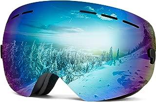 Wantdo OTG Anti Fog Ski Goggles Spherical Double-Layer Detachable Lenses Snow Goggles UV400 Protection Helmet Compatible Snowboard Goggle for Men Women Snowmobile, Skiing, Skating