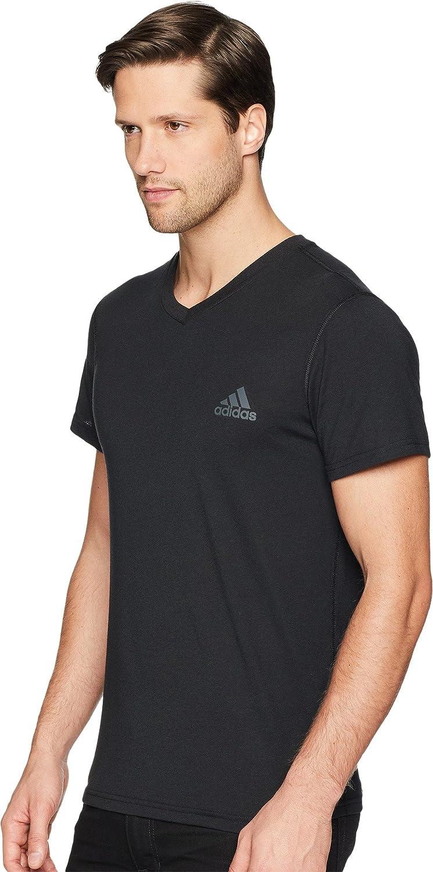 Amazon.com: adidas Men's Training Ultimate Short Sleeve V-Neck Tee ...