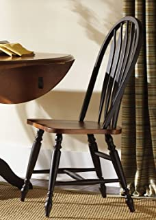 Liberty Furniture Low Country Windsor Back Dining Side Chair in Black