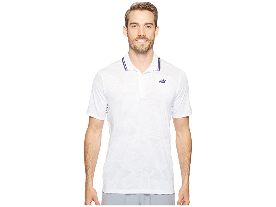 New Balance English Rose Polo (White) Men
