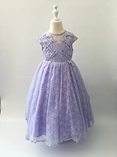 Cuts & Fits Purple Lace American Satin Gown with Beads