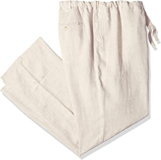 Perry Ellis Men's Big and Tall Big & Tall Linen Drawstring Pant