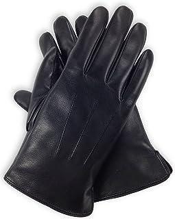 Bleu Nero Luxury Men Genuine Nappa Lambskin Leather Cashmere Lining Gloves