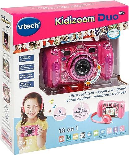 VTech – Kidizoom Duo 5.0 – Rose – Appareil Photo Enfant – Appareil Photo Numérique – Version FR