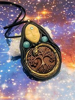Ayahuasca Mother Goddess Pendant. Spirit Snake Necklace. Snake Totem. Shaman Jewelry. Sacred Plants, Snake Jewelry. Serpen...