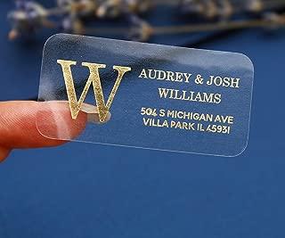Custom Gold Foil Return Address Labels Clear Address Labels Rose Gold Silver Address Sticker