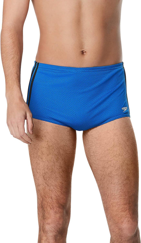 Speedo Men's Swimsuit Square Leg Poly Mesh Training Suit