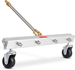 Washer Pro Power Pressure Accessories: Surface Cleaner Attachments for Water Pressure Washers - 16 Inch Broom Attachment with 4 Nozzles and Lance for Washing Driveway, Concrete Sidewalk, Deck, Patio