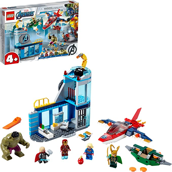 LEGO Marvel Avengers Wrath of Loki 76152 Building Toy with Marvel Avengers Minifigures and Tesseract; Great Gift for Kids Who Love Captain Marvel, Iron Man and Thor (223 Pieces)