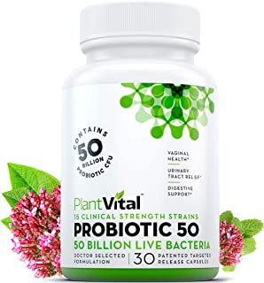 NEW! Probiotics for Women. 50 Billion CFU, 15 STRAINS. Once Daily Digestive Support, UTI Relief, Immune Health, Yeast Cont...