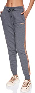 adidas Women's Essentials 3S Pants, Grey (Dark Grey Heather/semi Coral)
