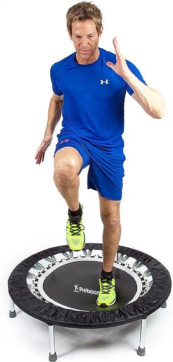 Mini trampolino professionale, originale pro gym rebounder basso impatto: non grava su articolazioni e schiena 403105
