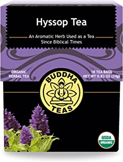 Buddha Teas Organic Hyssop Tea   18 Bleach-Free Tea Bags   Aromatic   Anti-Inflammatory   Antioxidants   Digestion   Made ...
