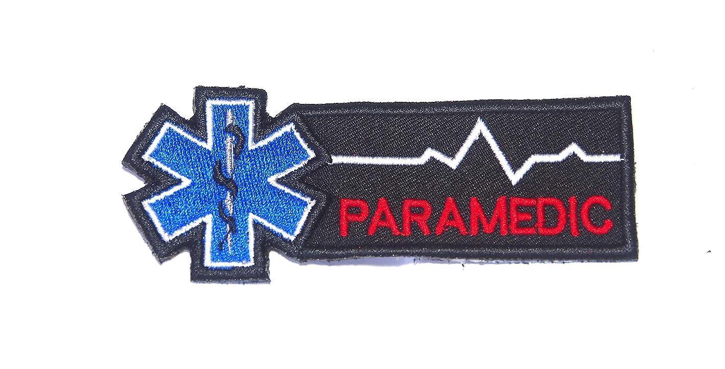 B30 EMT EMS Paramedic Emergency Medical Ambulance Rescue Embroidered Morale Patch Hook Backing 4X1.5 inch (Black) jdhzmgpabtg086