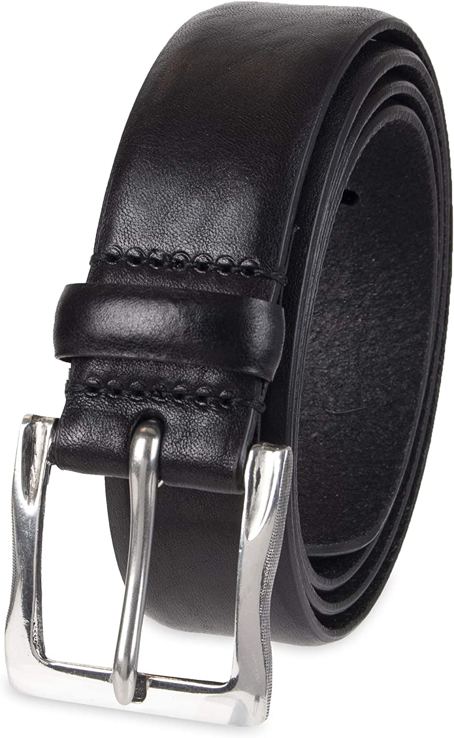John Varvatos Mens 38mm Leather Belt with Harness Buckle 42 Chocolate