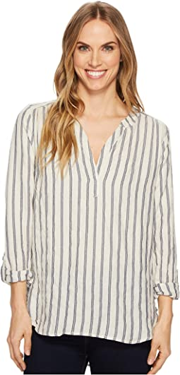 Dylan by True Grit - Farmhouse Stripe Long Sleeve Tunic