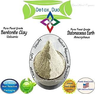 Detox Duo: Bentonite Clay & Diatomaceous Earth (4oz Each, Total 8oz) Food Grade & 100% Natural