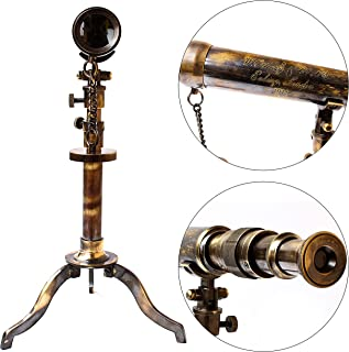 Collectibles Buy A Nautical Telescope W. Ottway London 1915 Vintage Stand, 10 by 18 inch, Brass Antique