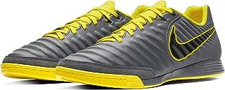 Nike Men's LegendX 7 Academy IC Indoor Soccer Shoes-Dark Grey/Opti Yellow/Black (12)