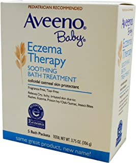 Aveeno Baby Eczema Therapy Soothing Bath Treatment, Single Use Packets 5 ea(pack of 2)