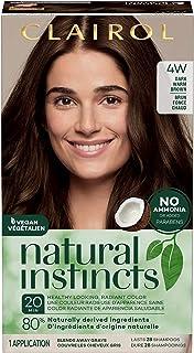 Clairol Natural Instincts Semi-Permanent, 4W Dark Warm Brown, Roasted Chestnut, 1 Count