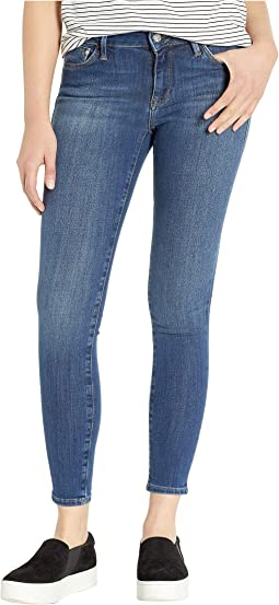 Adriana Mid-Rise Super Skinny Jeans in Indigo Supersoft