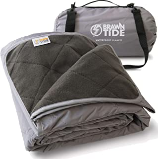 Brawntide Large Outdoor Waterproof Blanket – Quilted, Extra Thick Fleece, Warm,..