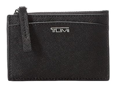 Tumi Belden Zip Card Case (Black) Handbags