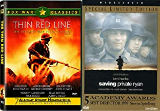 Great Directors Focus on World War II - Terrence Mallick's Thin Red Line & Steven Spielberg's Saving Private Ryan 2-DVD Bunddle