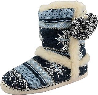 6d11c886d82 Dunlop Brianna Farah Annabelle - Zapatillas de estar por casa tipo bota.  Zapatillas de invierno