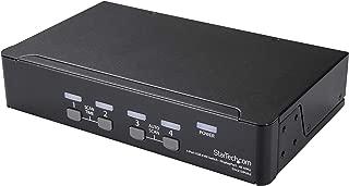 StarTech.com 4 Port DisplayPort KVM Switch w/ Audio & USB Hub - 4K 60Hz - Keyboard, Video, Mouse Computer Switch Box for DP Monitor (SV431DPUA2)