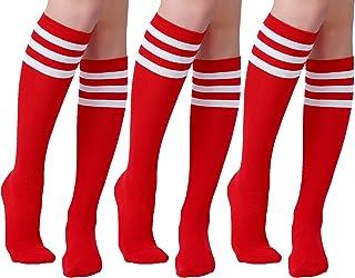 Women's Knee High Casual Tube Socks 3 Pairs