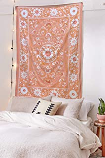 Pheolyh Bohemian Floral Patterned Tapestry Queen Bedspread Dorm Decor Yoga Mat Beach Rugs Towel