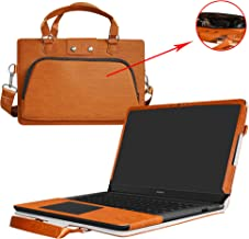 Huawei MateBook X Case,2 in 1 Accurately Designed Protective PU Cover + Portable Carrying Bag for 13